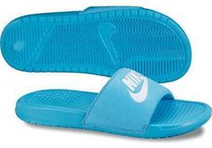 5e7bddf3ece7 Blue Nike slides really cute!! Jordan Tennis Shoes