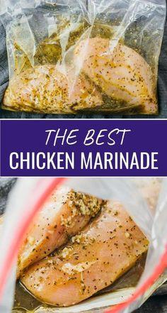 Chicken Marinade Recipes, Chicken Parmesan Recipes, Oven Baked Chicken, Baked Chicken Breast, Chicken Salad Recipes, Chicken Breasts, Keto Chicken, Recipe Chicken, Simple Chicken Marinade