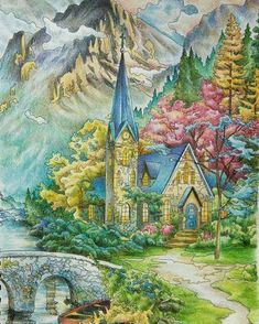 Thomas kinkade posh coloring book