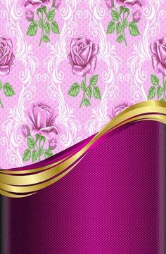 Purple and gold Flower Wallpaper, Wallpaper Backgrounds, Wallpaper Ideas, Phone Wallpapers, Burberry Wallpaper, Rose Gold Pictures, Rose Background, Purple Art, Romantic Roses