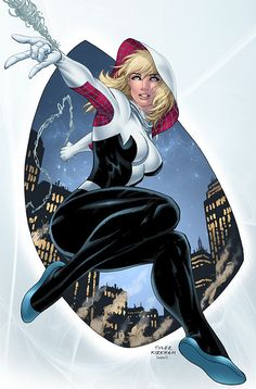 Could Spider-Gwen Ever Join The Marvel Cinematic Universe? Marvel Dc, Marvel Spider Gwen, Marvel Comics Art, Marvel Girls, Comics Girls, Marvel Heroes, Marvel Characters, Comic Books Art, Comic Art