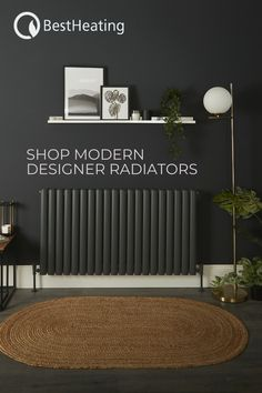 Love modern minimal interiors? Turn your home heating into home decor with our contemporary collection of designer radiators in a range of colours to suit your scheme. Shop now. #homedecor #homedecorideas #livingroom Designer Radiator, Radiators, Contemporary Design, Minimalism, Suit, Range, Colours, Interiors, Living Room