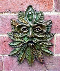 The Beech Green Man plaque