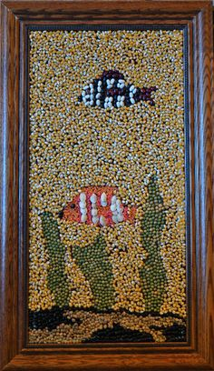Bean and seed mosaic