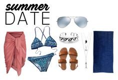 """""""Beach Date"""" by haliesmyles on Polyvore featuring Patagonia, Aéropostale, Bling Jewelry, Vivienne Westwood, Ray-Ban, beach and summerdate"""
