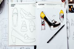 Differential from ordinary shoe design books, the Shoe Design is a complete handbook focusing on the practical needs of footwear designers. Shoe Template, Bee Embroidery, Shoe Sketches, Fashion Templates, Fashion Sketchbook, Fashion Design Sketches, Fashion Portfolio, High End Fashion, Book Design