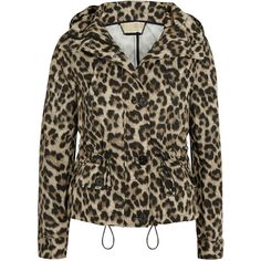 MICHAEL Michael Kors Cheetah-print hooded shell jacket