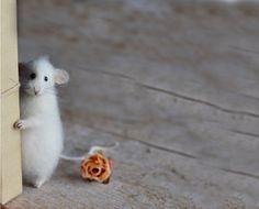 Mouse stuffed animal felt handmade plush kawaii by OlgaMareeva