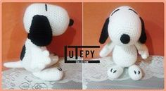 SNOOPY amigurumi Patrón GRATIS Crochet Animals, Crochet Toys, Knit Crochet, Snoopy Amigurumi, Snoopy Happy Dance, Amigurumi Tutorial, Cute Dolls, Hobbies And Crafts, Diy Projects