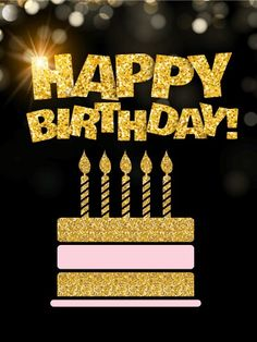 Send Free Golden Birthday Cake Card To Loved Ones On Birthday U0026 Greeting  Cards By Davia.