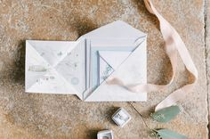 Wedding Stationery by Paperknots - Anna Campbell Bride Elegant Wedding With Pastel Colour Scheme Stationery by Paperknots Styling by The Wedding Stylist Image by Emma Pilkington