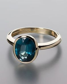 Gold ring with Petrol Kyanite by Sogni d´oro