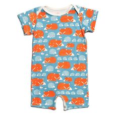 It doesn't get any better than this! FOXES & HEDGEHOGS... :-) http://www.sustainthefuture.us/products/foxes-hedgehogs-summer-romper-by-winter-water-factory?utm_campaign=social_autopilot&utm_source=pin&utm_medium=pin