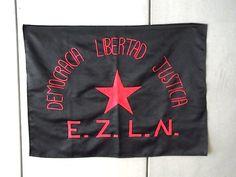 サパティスタ EZLN フラッグ 旗- 「TOMBOLA トンボラ」 大阪 メキシコ雑貨 雑貨店 カフェ 通販 アニマリート ルチャリブレ  #mexico #メキシコ雑貨 #ezln #zapatista #bandera #フラッグ #旗 #刺繍