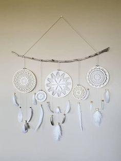 Dreamcatcher Feather Wall Hanging Driftwood Art Boho