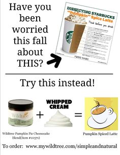 Wildtree pumpkin spice latte. Need to know more?  Just ask: www.mywildtree.com/kimdesselle