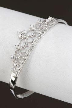 Sephora Sterling Silver & Sparkle Crown Bracelet.