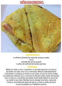 receita de pão de quinoa de microondas