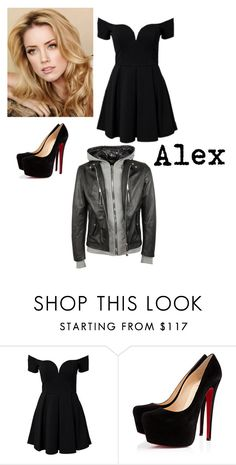 """""""Alex"""" by choco-fresa ❤ liked on Polyvore featuring Christian Louboutin and Philipp Plein"""