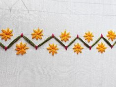 Hand Embroidery and Its Types - Embroidery Patterns Hand Embroidery Videos, Hand Embroidery Tutorial, Hand Work Embroidery, Simple Embroidery, Learn Embroidery, French Knot Embroidery, Border Embroidery Designs, Embroidery Flowers Pattern, Embroidery Motifs