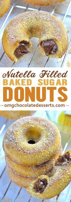 Homemade Baked Donuts, Baked Donut Recipes, Baking Recipes, Dessert Recipes, Homemade Vanilla, Homemade Breads, Best Nutella Recipes, Best Donut Recipe, Baking Ideas
