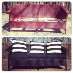 Update And Refurbish Wicker Furniture With Spray Paint!    29 Cool