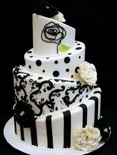 Outra ideia diferente para bolos de casamento.