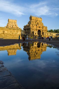 Entrance to Tanjore Big Temple from across the moat , Tamil Nadu, India by Meyyappan Pethaperumal