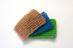 knitting kitchen scrubbies with tulle