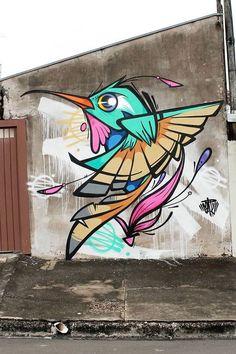 Super Ideas for street art stickers galleries Graffiti Doodles, Graffiti Wall Art, Murals Street Art, Art Mural, Street Art Graffiti, Art Du Monde, Graffiti Characters, Urban Street Art, Inspiration Art