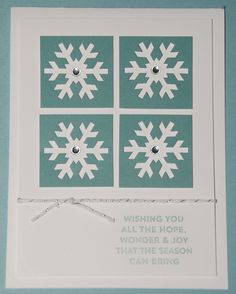 November My Paper Pumpkin Projects - Card - Wishing You Snowflake Window Card