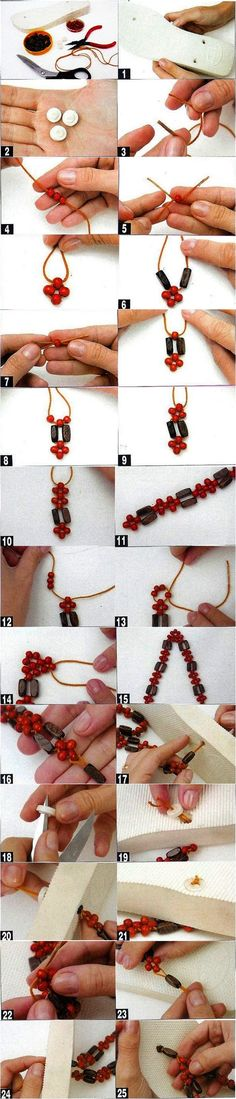 decorate your old flip flops wood beads embellish