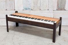 REPURPOSED PIANO BENCH COFFEE TABLE