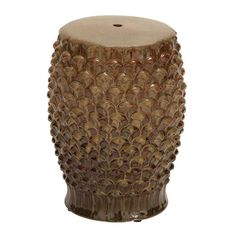 A textures garden stool makes a style statement indoors or out.   $115