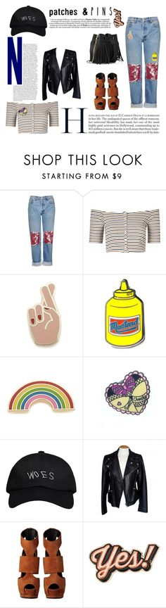 """Patch It, Pin It, Perfect!"" by alba-mudarra ❤ liked on Polyvore featuring Topshop, Glamorous, Georgia Perry, PINTRILL, October's Very Own, Alexander McQueen, Giuseppe Zanotti, Anya Hindmarch, Whistles and patchesandpins"