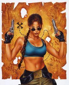 Tomb Raider / The Greatest Treasure of All Lara Croft / Map / 2000 (Joe Jusko)