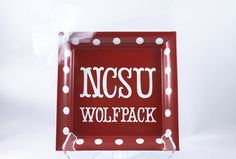 NCSU Wolfpack decorative plate on Etsy, $10.00