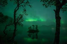 #Aurora illuminates seafog and mist drifting over a lake in Senja, #Norway. By Bernt Olsen. http://spaceweathergallery.com/indiv_upload.php?upload_id=117450&PHPSESSID=3fjilr4a8c0lla4v9l0dluck50 …