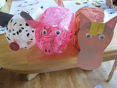 The Preschool Experiment: milk jug farm animals