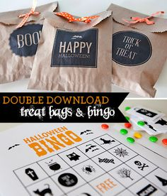 FREE Printable Halloween Bingo Cards and Treat Bags - Thrifty Jinxy