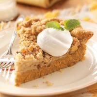 Top 10 Pie Recipes from Taste of Home, including Ginger-Streusel Pumpkin Pie