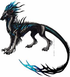 This is a Gatehound, which is a skeletal wolf. Mystical Animals, Mythical Creatures Art, Mythological Creatures, Magical Creatures, Fantasy Creatures, Fantasy Wolf, Fantasy Beasts, Fantasy Art, Creature Concept Art