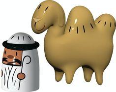 Alessi Porselensfigurer Amir og Kamelen