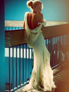 Backless and gorgeous