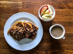 Pumpkin Pecan French Toast with Maple & Cream Drizzle - the Daily Hustle blog