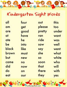 Sight words kindergarten - How To Get Your Child Ready For Kindergarten – Sight words kindergarten Before Kindergarten, Kindergarten Readiness, Kindergarten Lesson Plans, Preschool Learning Activities, Homeschool Kindergarten, Preschool Lessons, Kindergarten Schedule, Starting Kindergarten, Teaching Phonics