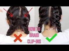 How To French Braid Clip-In Hair Extensions - YouTube