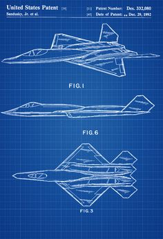 Airplane art aviation wall art airplane decor pilot gift yf 23 airplane patent airplane blueprint aviation art airplane art pilot gift aircraft decor malvernweather Gallery