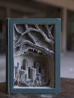 "Book Art ""A Tree that Grows in Brooklyn"" by Jonathan Wiley"