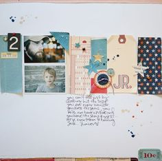 October Afternoon layout based on a sketch. Love the wron and torn look that is still clean and graphic. #octoberafternoon